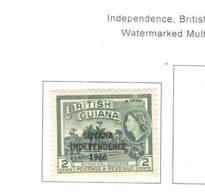 Guyana PO 1966 Indip.Ovpr.  Scott.01+See Scan On Scott.Page; - Guyana (1966-...)