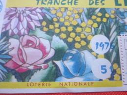 1976-1/10é ROSA--TRANCHE DES LILAS -EUROSUD-Billet De La Loterie Nationale+VIGNETTE-IMPRIMÉE TAILLE DOUCE - Billets De Loterie