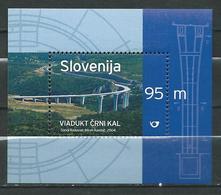 Slovenia - 2004 Opening Of Crni Kal Viaduct.S/S. MNH - Architecture/Bridges - Slovénie