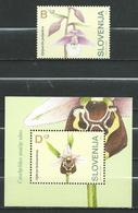 Slovenia 2004.Flowers. Orchids -, S/S And Stamp. MNH. - Slovénie