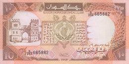 SUDAN 10 POUND 1990 P- 41c UNC CV=$25 */* - Soedan