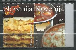 Slovenia 2004 Food - Cuisine Of The Prekmurje Region. MNH - Gastronomy - Slovénie