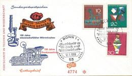Deutschland: FDC Brief 1968: Bergbau; Druckmaschinen; Mikroskopbau; Nr. 546-48#PK - FDC: Covers