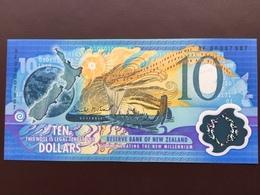 NEW ZELAND P190 10 DOLLARS 2000 UNC POLY - Nieuw-Zeeland