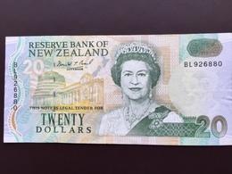 NEW ZELAND P179 20 DOLLARS 1993 AUNC - New Zealand