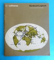 LUFTHANSA - Vintage Inflight Magazine ( 1975. ) Bordbuch/Logbook 56. Pages * English & German * Route Map - Fleet Info - Vluchtmagazines