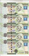 LIBYA 10 DINARS 2008 2009 P-73 SIG/7 BENGADARA LOT X5 UNC NOTES   */* - Libye