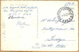 8Aa-895: POSTES-POSTERIJEN B.P.S 3. -4-8-57.11 > Zedelgem: Pk: Siegen I. W. Der Bergmann - Marcas De La Armada
