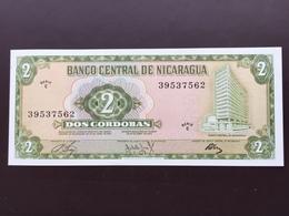 NICARAGUA P121 2 CORDOBAS 1972 UNC - Nicaragua