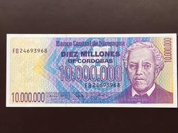 NICARAGUA P166 10000000 CORDOBAS 1991 UNC - Nicaragua