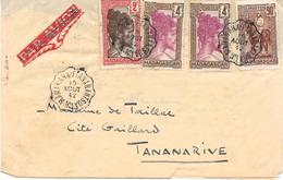 Lettre Madagascar Convoyeur Manakara-fianarantsoa N°1 1942 - Madagascar (1889-1960)