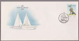 Australia Cup-pex Americas Cup # 22 Series 1970 Gretel 11 V Intrepid Yacht Cover - Primo Giorno D'emissione (FDC)