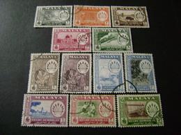 Malaya States - Negri Sembilan 1957 Pictorial Definitive Set (SG 68-79) - Used - Negri Sembilan