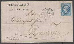 Var:  P.c.1789 Sur N°14B + CàD LE LUC-EN-PROVENCE(78) Sur LAC De 1861 - Marcophilie (Lettres)