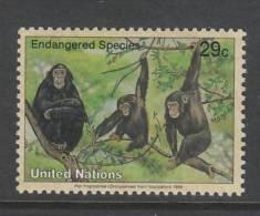 TIMBRE NEUF DES NATIONS UNIES N. Y. - CHIMPANZE (PAN TROGLODYTES) N° Y&T 651 - Chimpanzés
