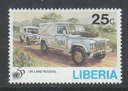 TIMBRE NEUF DU LIBERIA - LAND ROVERS (50E ANNIVERSAIRE DES NATIONS UNIES) N° Y&T 1295 - Voitures