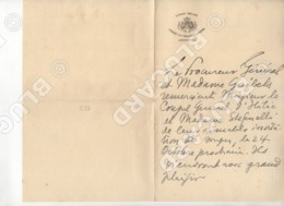 29653 CONGO BELGA BELGE LEOPOLDVILLE PROCUREUR GENERAL INVITATION LETTER - Documenti Storici