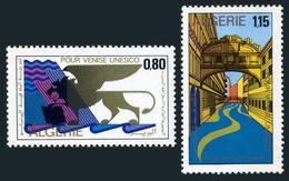 Algeria 471-472,MNH.Michel 579-580. UNESCO Campaign To Save Venice.1972.Lion, - Algeria (1962-...)