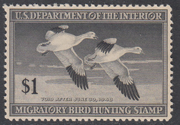 US 1947 RW14 $1 Duck Hunting Stamp MNH**, Further Reduction ..... $30 ------>>>>> $27 --->>>$24 --->>$20.90 - Duck Stamps