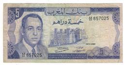 Morocco 5 Dirhams, 1970. F. - Marocco