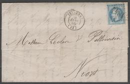Dordogne:  G.C.1844 Sur N°29B + CàD ISSIGEAC(23) Sur LAC De 1869 - 1849-1876: Période Classique