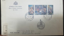 O) 1967 SAN MARINO, PRODIGAL SON-ST FRANCISC -THE PAINTINGS ARE BY GOVANNI FRANCESCO BARBIERI, GOVERNMENTAL PHILATELIC - San Marino