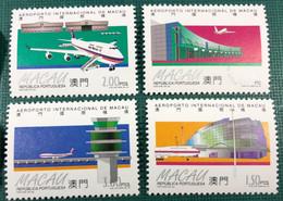 MACAU 1995 INAUGURATION OF THE MACAO INTERNATIONAL AIRPORT - SET OF 4, UM VF - Macao