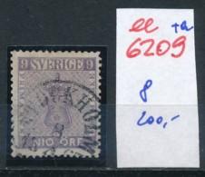 Schweden  Nr.  8  O  (ee6209  ) Siehe Scan - Sweden