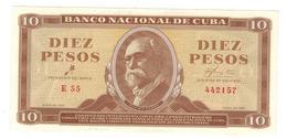 Cuba 10 Pesos 1961, AUNC/UNC. - Cuba