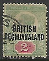 Bechuanaland, 1891, Opt On 2d Of Great Britain, Used - Bechuanaland (...-1966)