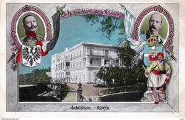 Famille Royale - Empereur Germanique Guillaume II & Roi Des Grecs Georges 1er à Corfou-Corfu-Korfu - Royal Families