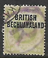 Bechuanaland, 1894, Opt On 1/= Of Great Britain, Used, Near Complete (registration) R Within Oval + Part C.d.s. - Bechuanaland (...-1966)