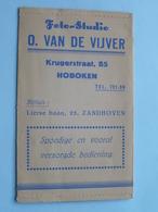 Foto Studio O. VAN DE VIJVER ( Mapje ) Krugerstraat HOBOKEN & Zandhoven > Anno 19?? ( Zie/voir Photo ) ! - Matériel & Accessoires