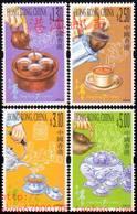 China Hong Kong 2001 Tea Culture Stamps 4v MNH - 1997-... Speciale Bestuurlijke Regio Van China