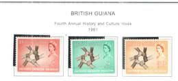 British Guiana PO 1961 Queen El.IIa Cujlture Week    Scott.268/270+See Scan On Scott Page; - British Guiana (...-1966)