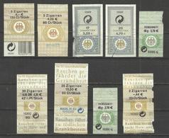 Germany Zigarren - MINISTERE DE FANANCE -  TAXE  (Cigarette), Scarce Revenue 9 Stamp - Sigaretten - Toebehoren