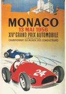 MONACO, Principato - XIV Grand Prix F1 1956 - Riproduzione Cartolina D'epoca - Publicité