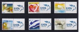 GREECE  PERSONAL STAMP WITH ELTA LABEL/PERSONALIZED STAMPS 2008(6pcs) -21/4/08-MNH-COMPLETE SET(L9) - Grecia