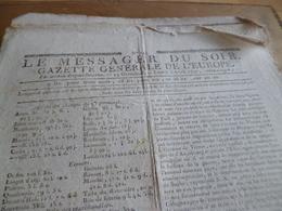 Journal Révolution Le Messager Du Soir Gazette Europe N°194 03/04/1797 France, Autriche, Suisse Allemagne,. - Zeitungen - Vor 1800