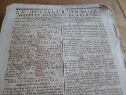 Journal Révolution Le Messager Du Soir Gazette Europe N°185 25/03/1797 France, Indes , Angleterre, Allemagne,. - Journaux - Quotidiens