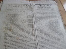 Journal Révolution Le Messager Du Soir Gazette Europe N°231 17/05 /1797 France, Angleterre,... - Journaux - Quotidiens