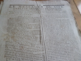 Journal Révolution Le Messager Du Soir Gazette Europe N°231 17/05 /1797 France, Angleterre,... - Zeitungen - Vor 1800