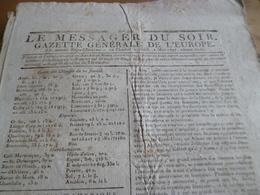 Journal Révolution Le Messager Du Soir Gazette Europe N°232 11/05 /1797 France, USA,Angleterre,Russie Batave... - Zeitungen - Vor 1800