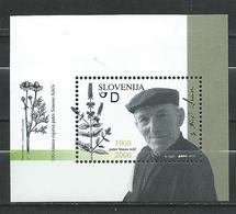 Slovenia - 2006 The 100th Anniversary Of The Birth Of Father Simon Asic.S/S MNH - Health/Medicine/Plants - Slovénie