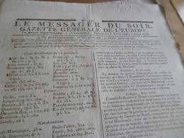 Journal Révolution Le Messager Du Soir Gazette Europe N°193 02/04/1797 France,Allemagne,.. - Journaux - Quotidiens