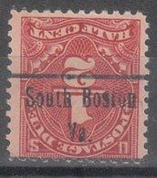 USA Precancel Vorausentwertung Preo, Locals Virginia, South Boston J68-486 - Vereinigte Staaten