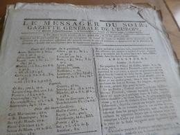 Journal Révolution Le Messager Du Soir Gazette Europe N°183 23/03/1797 France,Allemagne, Angleterre.. - Zeitungen - Vor 1800