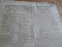 Journal Révolution Le Messager Du Soir Gazette Europe N°235 14/05/1797 France,Turquie, Italie, - Journaux - Quotidiens