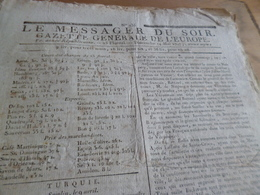 Journal Révolution Le Messager Du Soir Gazette Europe N°235 14/05/1797 France,Turquie, Italie, - Zeitungen - Vor 1800