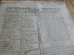 Journal Révolution Le Messager Du Soir Gazette Europe N°236 15/05/1797 France,Espagne , Italie,Autriche,Allemagne - Journaux - Quotidiens